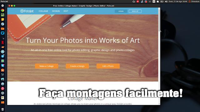 Faça montagens com  Fotojet no Ubuntu