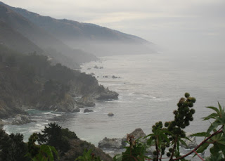 Misty coastline near Big Sur, California