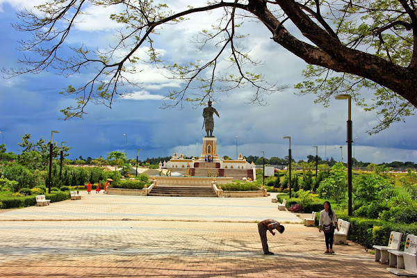 Il Parco Chao Anouvong a Vientiane