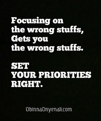 Motivational quotes about life and setting priorities right
