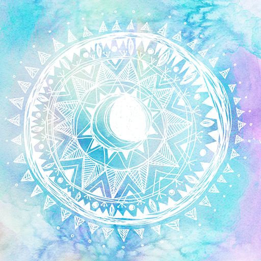Watercolor Moon Mandala - Erin Clark - Inked in Red