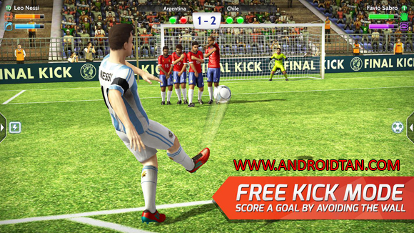 Free Download Final kick: Online Football Mod Apk + Data v5.4 (Unlimited Money/VIP/Ads Free) Android Full Latest VersionTerbaru 2017