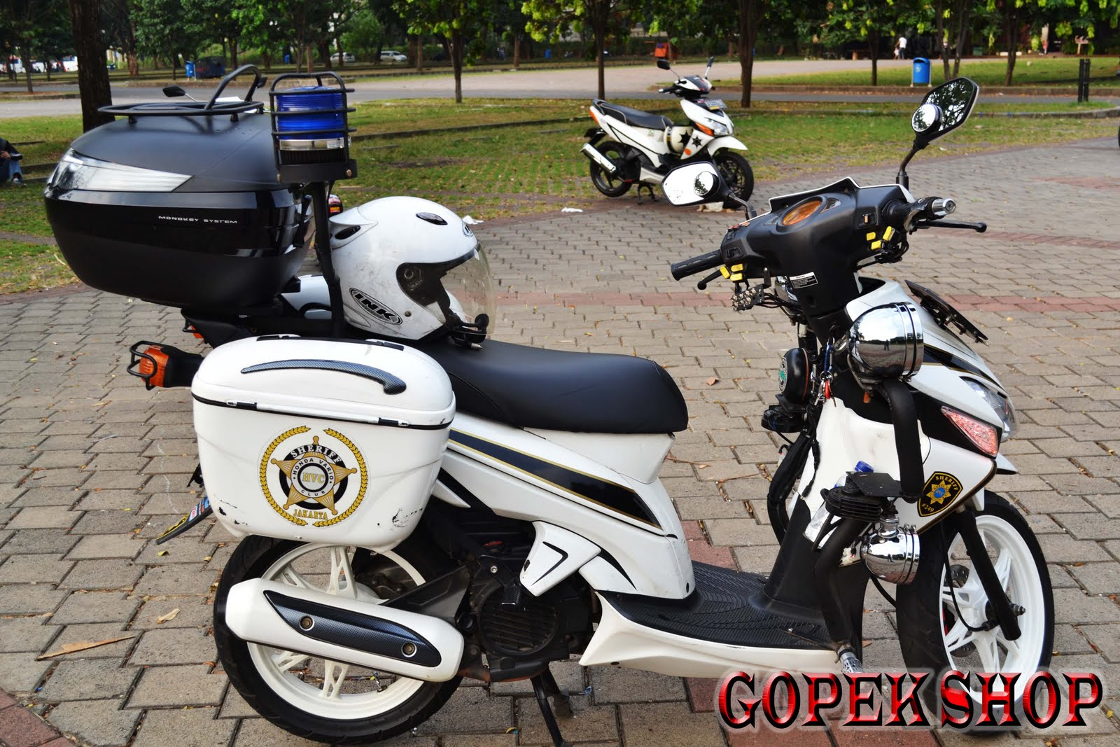 Modifikasi Honda Vario Touring Lampak Modifikasi