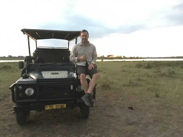 Simon enjoying an MGT on the front on the Land Rover