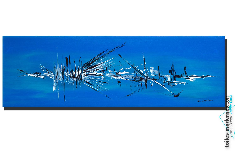 Jo lle caria artiste peintre toiles tableaux for Objet deco bleu