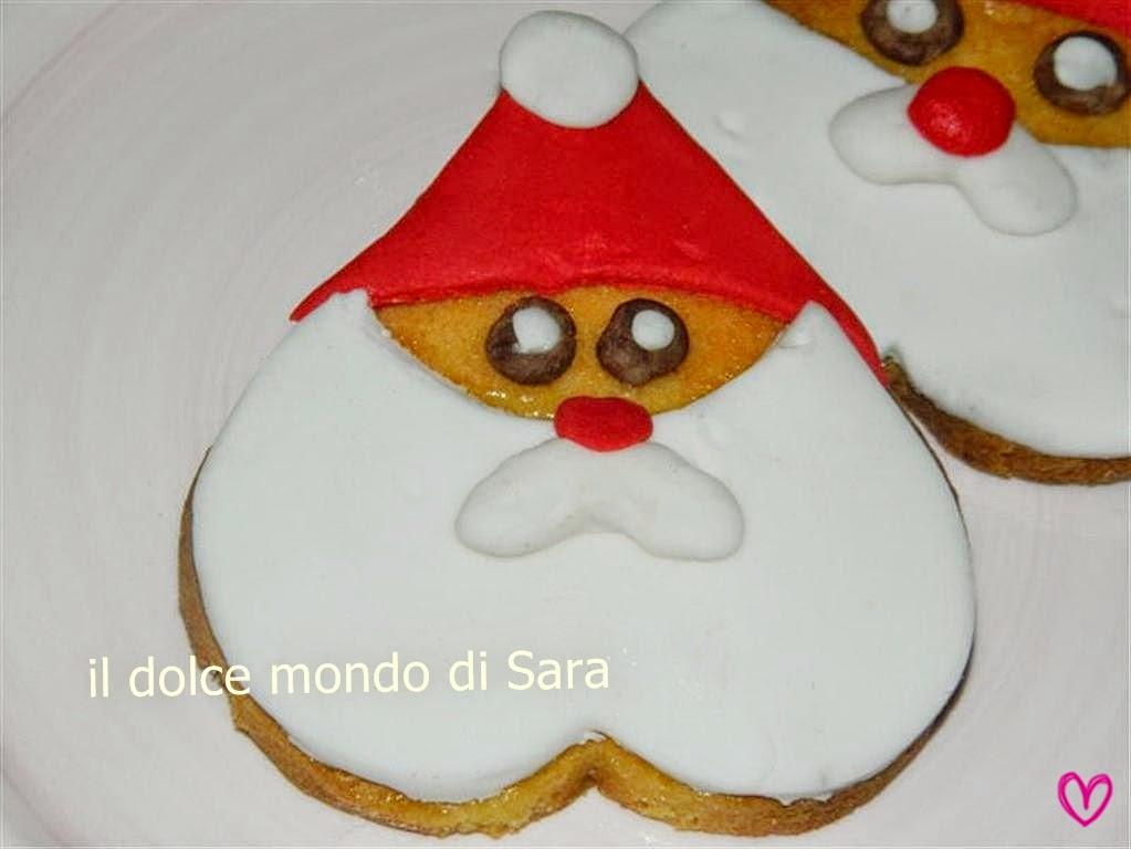 Biscotti Di Natale Usa.ღ Il Dolce Mondo Di Sara ღ Biscotti Di Babbo Natale