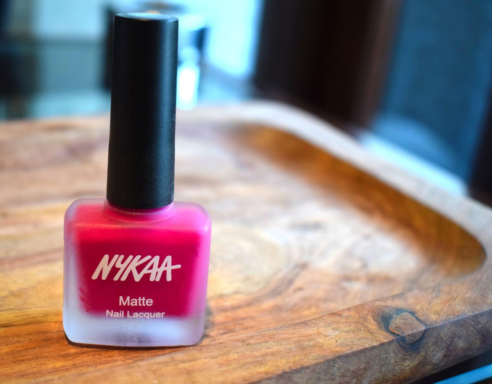 BeautyFitnessFunda: Nykaa Matte Nail Enamel - Strawberry Shortcake ...
