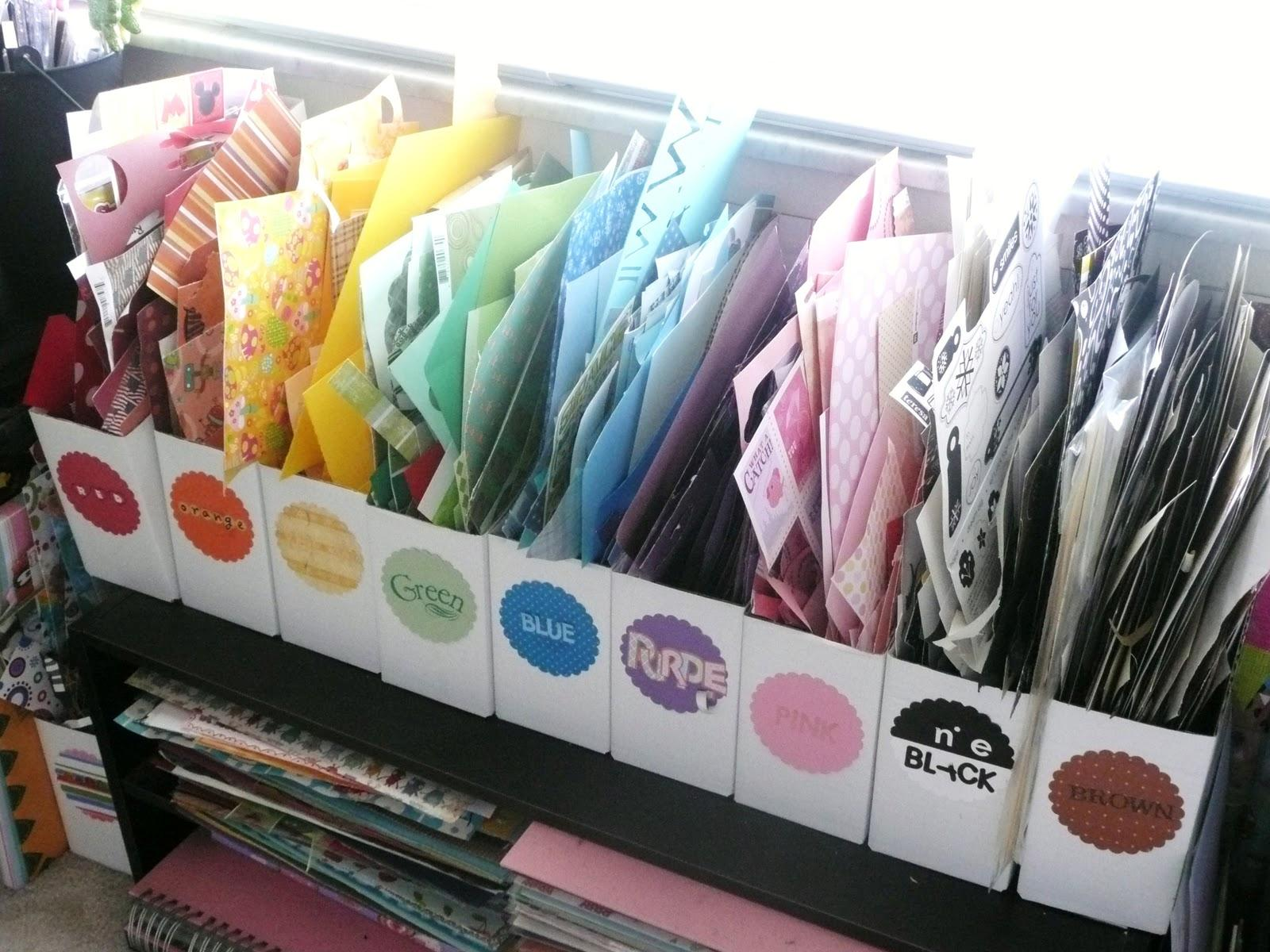 It's Written on the Wall: Craft Room Organizing-Store over ...