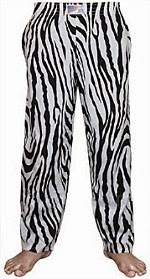 Zebra print cotton baggy pants