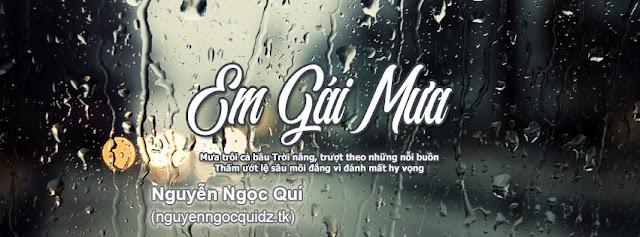 PSD ẢNH BÌA - Em Gái Mưa - Hương Tràm - Nguyenngocquidz