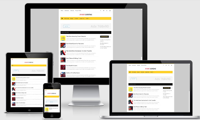 Nubie Fast Responsive Blogger Template Yellow Version Redesign (NEW)
