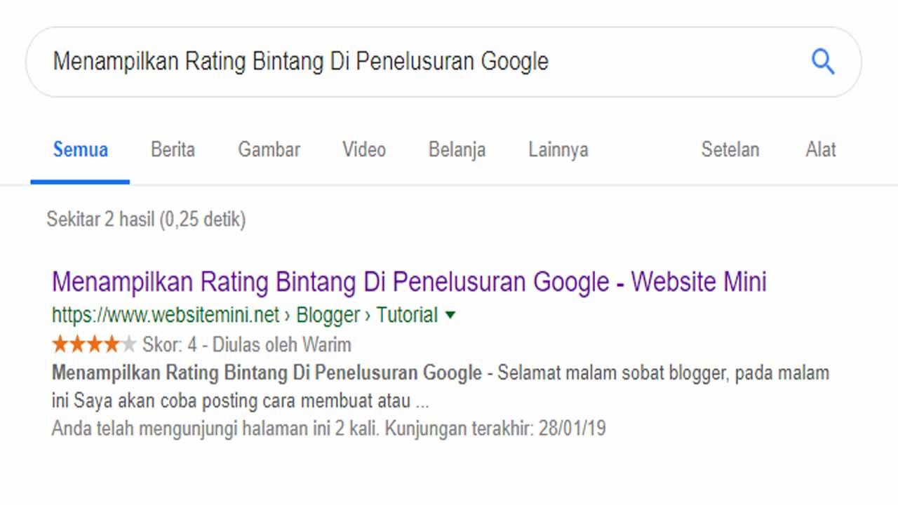 Menampilkan Rating Bintang Di Hasil Penelusuran Google