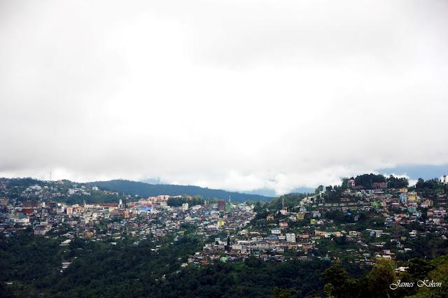 Kohima Town View from Jotsoma Village way to Khonoma Village 2