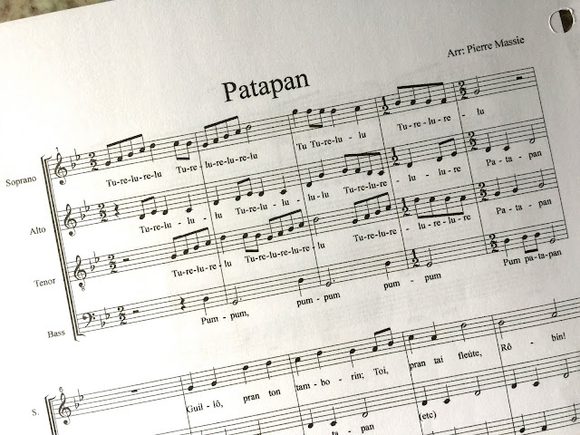 Patapan - new arrangement by Pierre Massie