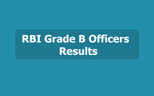 RBI Grade B Officers Final Results