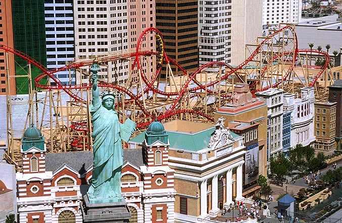 Manhattan Roller Coaster New York Las Vegas
