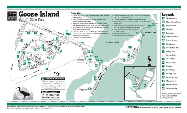 Goose Island Texas Map