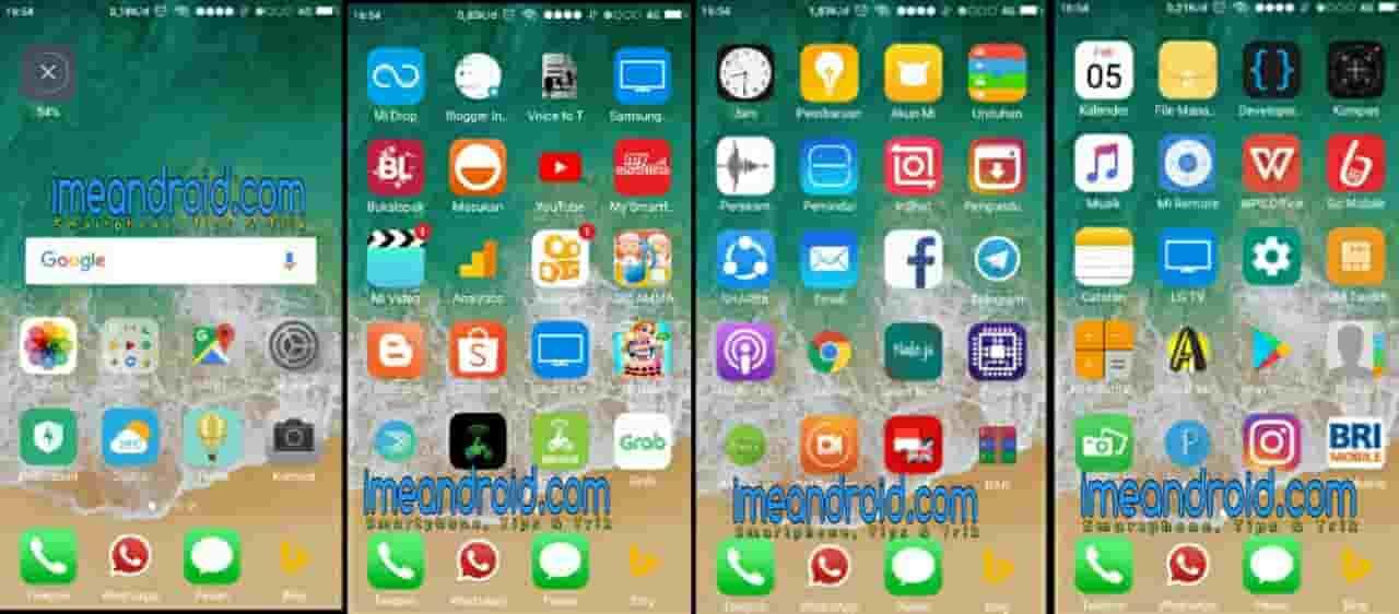 Cara mengubah tampilan hp android menjadi iphone tanpa Root atau
