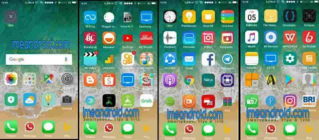 Mengubah tampilan hp jadi iphone