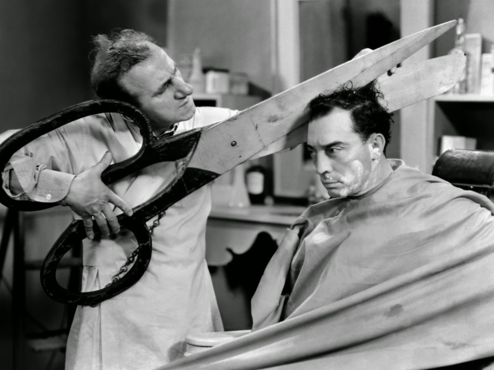Buster Keaton Jimmy Durante What No Beer comedy