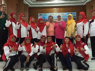 TP PKK Kabupaten Padang Pariaman Gelar Senam Lansia Antar Kecamatan.