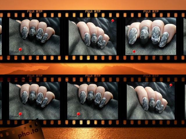 Star Wars Episode VII - The Force Awakens nail art manichiura pictata
