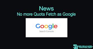 SEO News: Google Search Console telah menghapus kuota pengindeksan