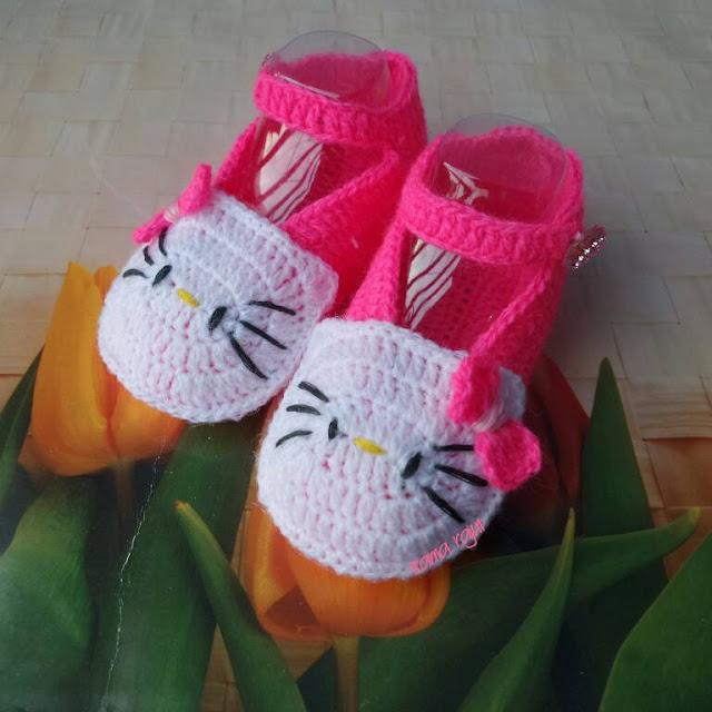 Sepatu Rajut Bayi Hello Kitty Online Murah Jakarta