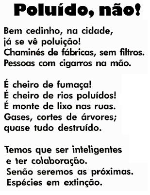 Texto POLUÍDO, NÃO!