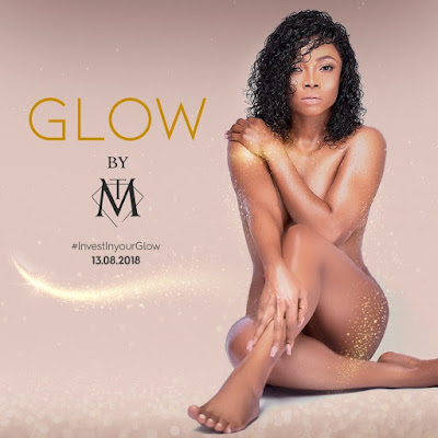 Toke Makinwa goes naked to promote new makeup glitter line