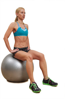 workout, healthy, stability ball,