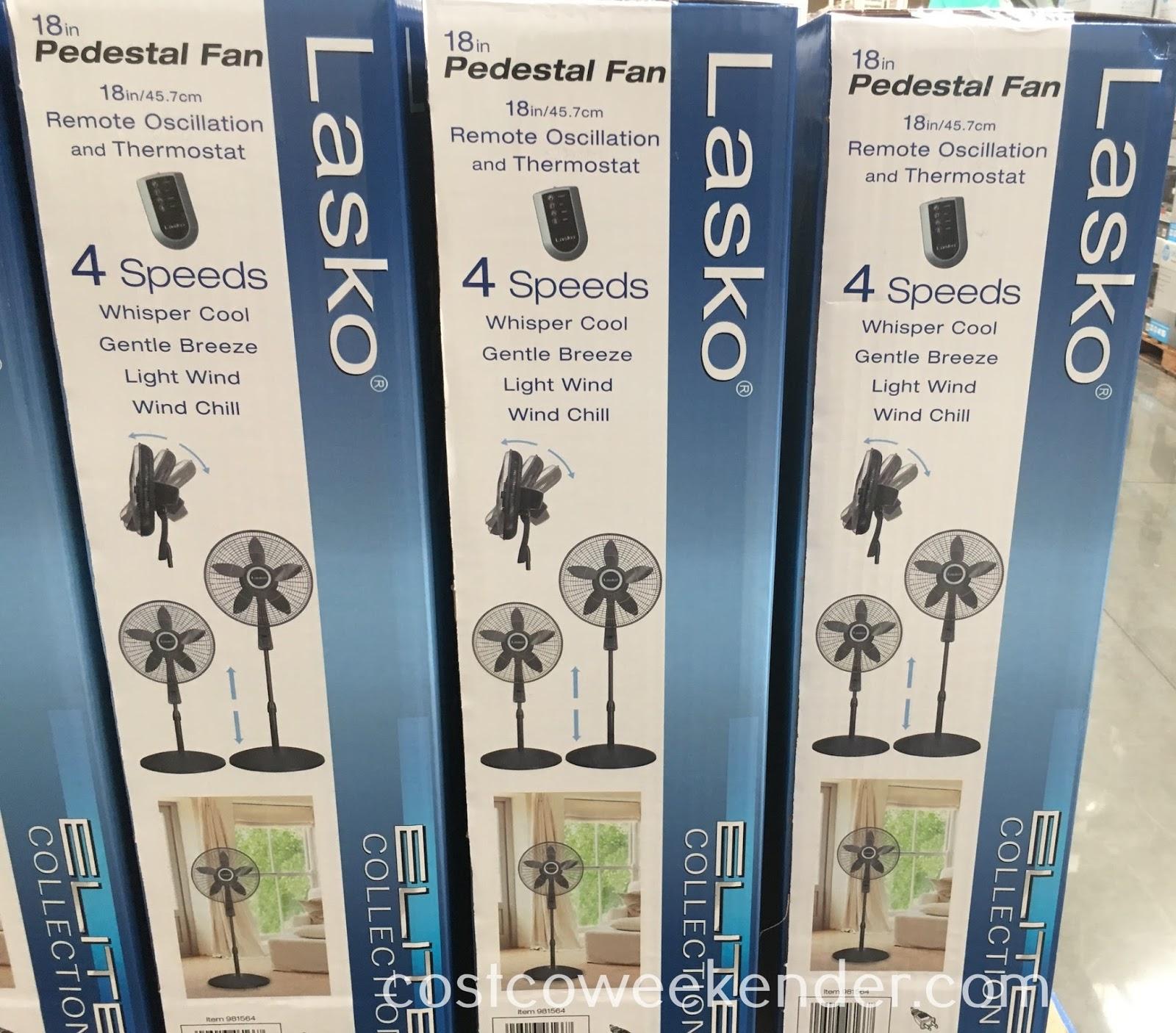 Costco 981564 - Lasko S18961 Elite Collection 18in Pedestal Fan: great for the summer heat
