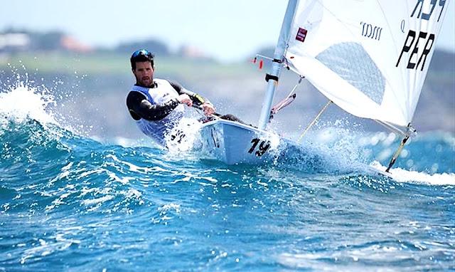 Stefano Peschiera -  Entre los top 10 en el Campeonato Mundial de Vela