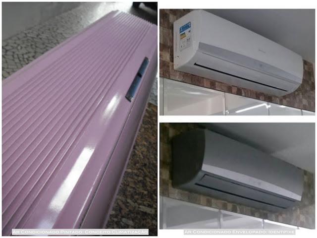 como adesivar ar condicionado