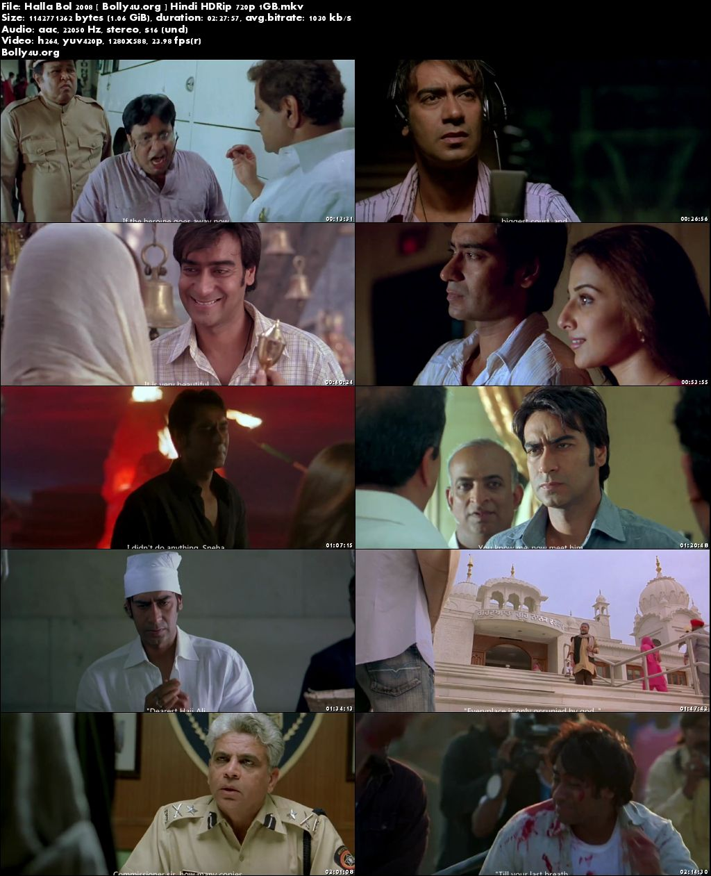 Halla Bol 2008 HDRip 720p Full Hindi Movie Download
