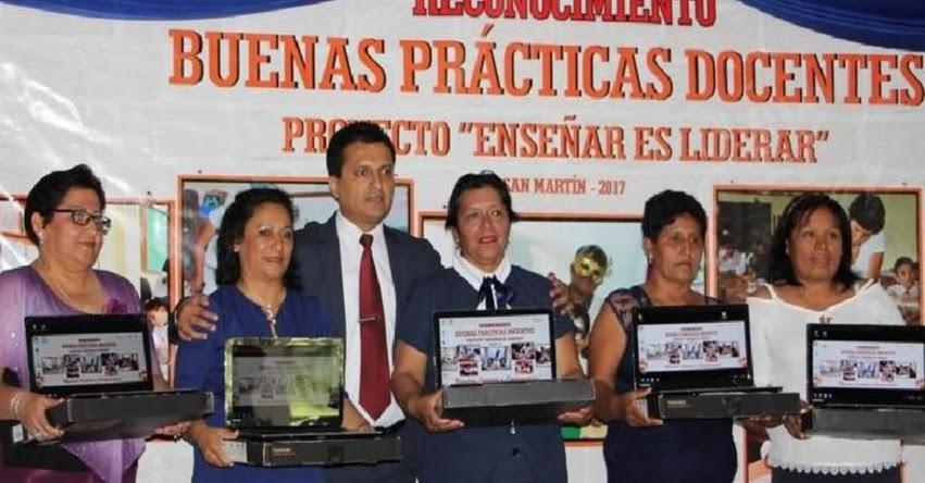Reconocen a 40 docentes por buenas prácticas pedagógicas en la DRE San Martín