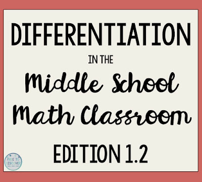 I will provide 2 concrete ideas for how you can differentiate for your high flyers in your math classroom.