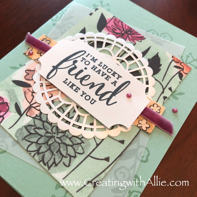 Check out blog post with instructions on how to make this card with TIPS and Tricks for making handmade cards using Stampin Up's Share what you love suite!  You will love how quick and easy this is to make!  www.creatingwithallie.com #stampinup #alejandragomez #creatingwithallie #videotutorial #cardmaking #papercrafts #handmadegreetingcards #fun #creativity #makeacard #sendacard #stampingisfun #sharewhatyoulove #thankyoucards #brandnewproducts #sneakpeekproducts