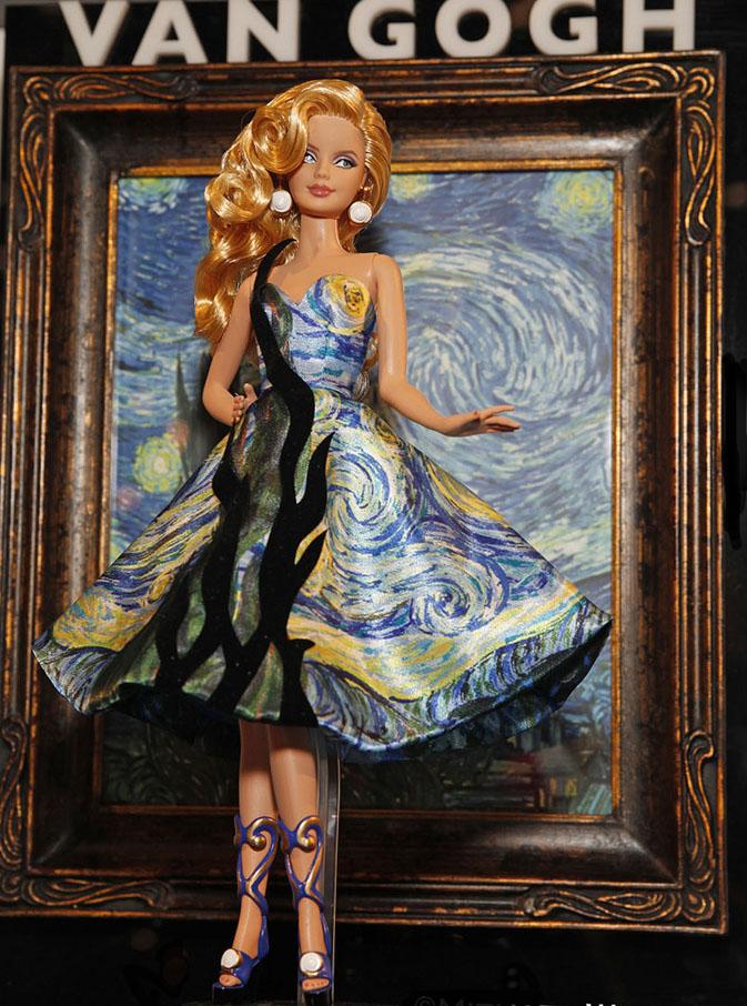 Mattel Releases New Fine Art Dolls The Davinci Van Gogh