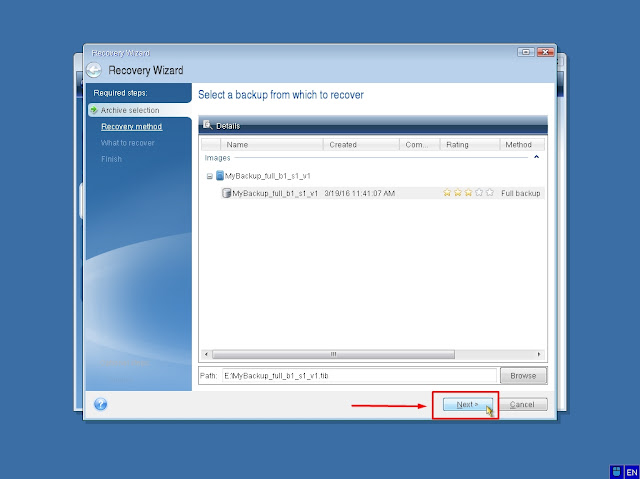 Tips, Langkah-Langkah Backup dan Restore Windows Dengan Acronis True Image (Part 2)