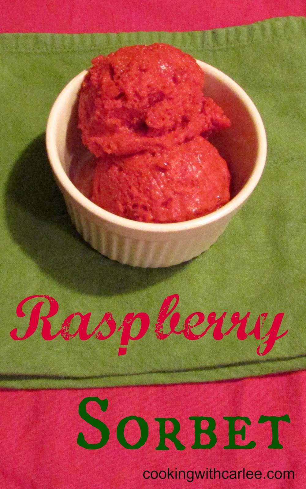 Cooking With Carlee: Raspberry Sorbet (with honey ...