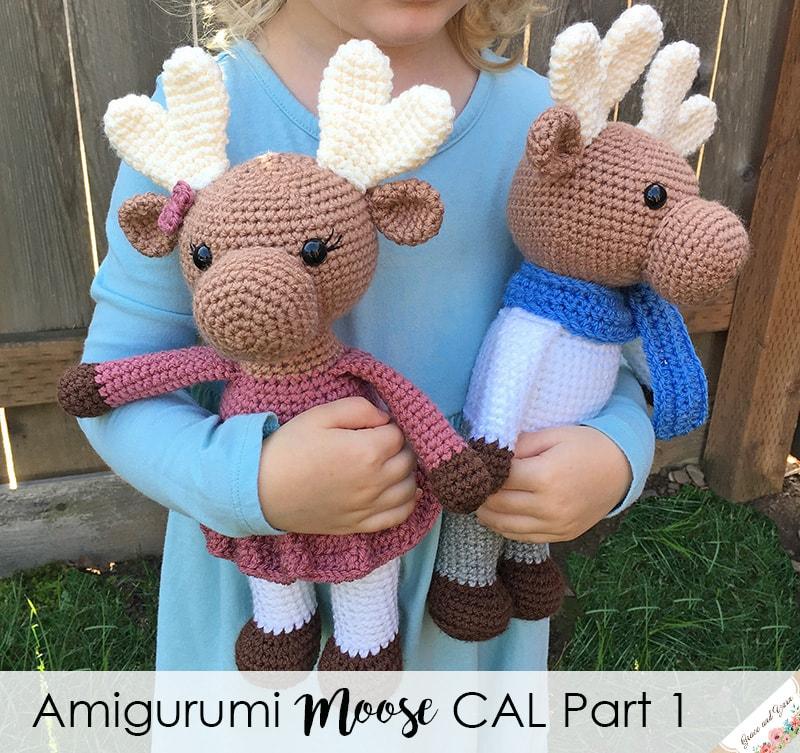 Amigurumi Moose Cal Part 1 Grace And Yarn