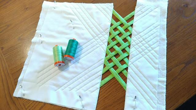 Modern open weave mini quilt