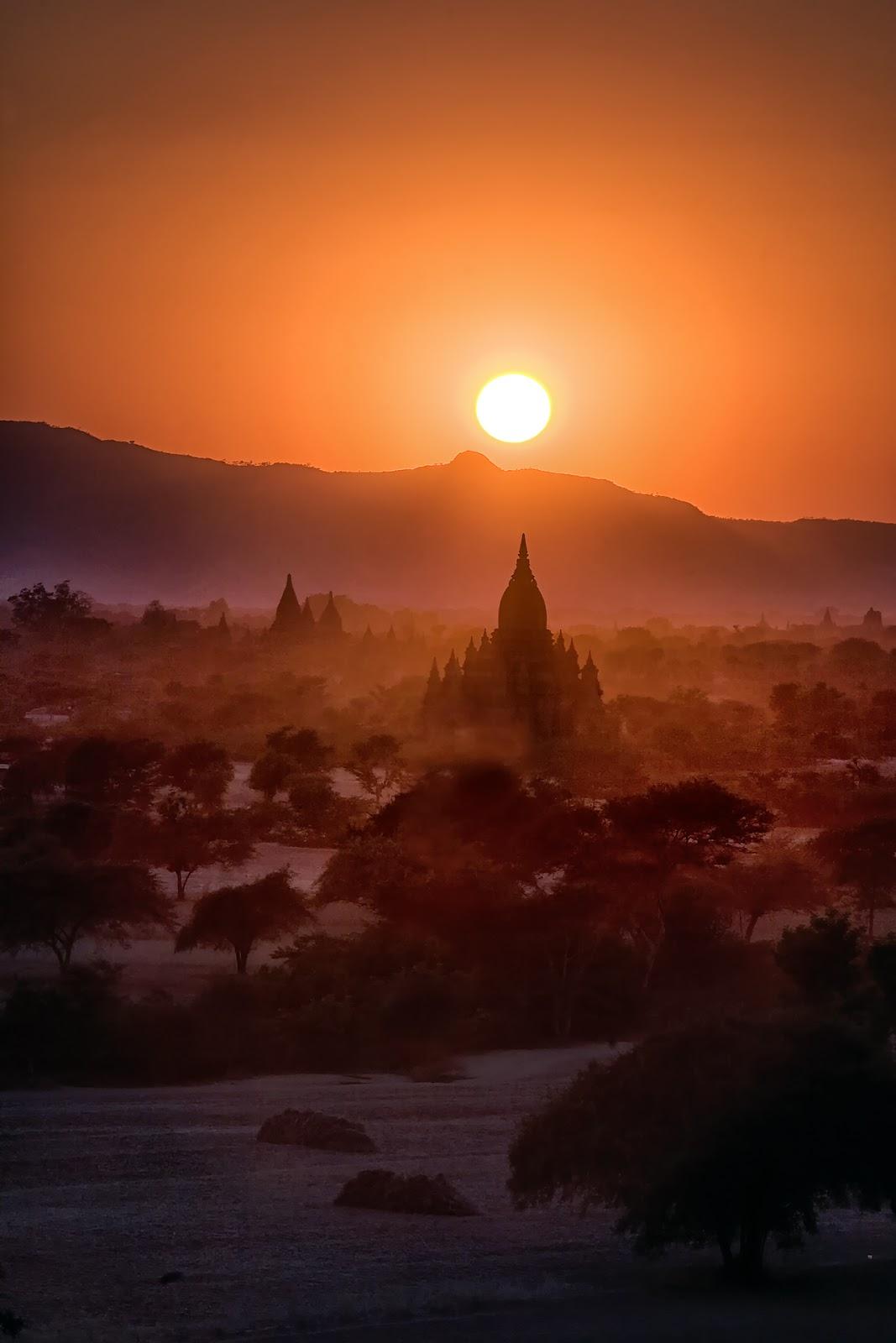 bagan,birma,pagody,zachód słońca