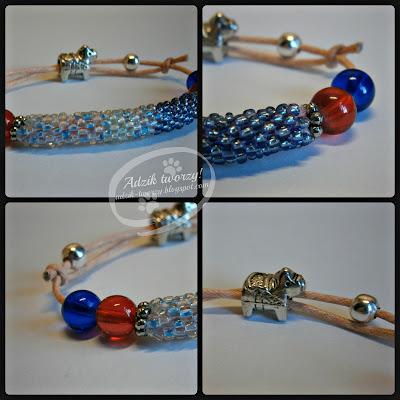 bransoletka z koralikami na sznurku