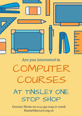 Contact Nazia on 0114 249 0099 to find out about IT classes in Tinsley