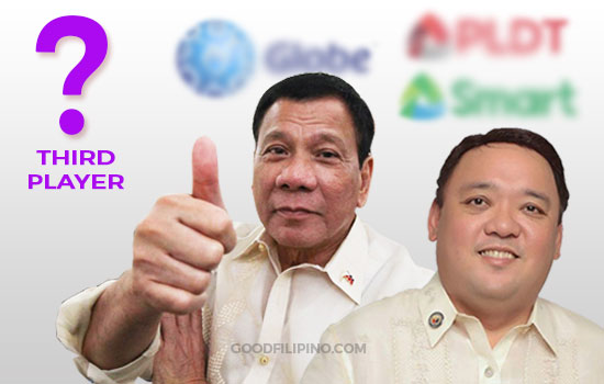 President Duterte allow entering 3rd player of Internet Providers in the Philippines