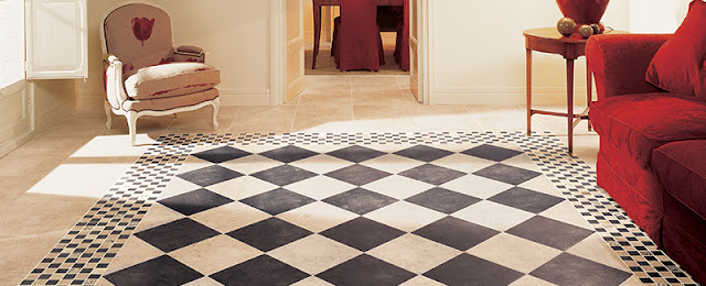 Patterned tile brings this room to life.