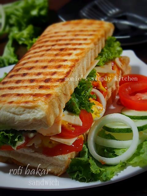 roti bakar sandwich telur