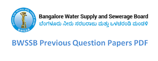BWSSB Previous Question Papers – Assistant Engineer (AE), JE, Meter Reader, Assistant
